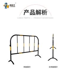 路泊士黄黑铁马道路施工专用临时围栏不锈钢隔离护栏交通安全设施