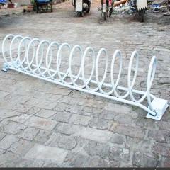 自行车架人行道停车保管车非机动车停车位圆形地笼可定做厂家直销