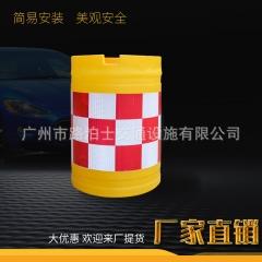 广东厂家供应吹塑防撞桶注水填沙塑料反光桶路口反光安全分流桶
