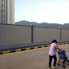 广州钢板围挡厂家 新标准装配式钢结构围挡 A款A1-1款镀锌烤漆板
