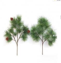 仿真松树叶pvc大小松绿植电信塔常青迎客松针叶藤条松果景观批发