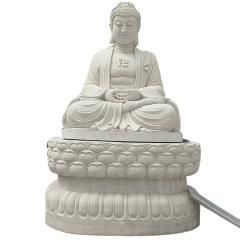 石雕定制厂家生产大型石雕释迦摩尼三世佛像 华严三圣雕像