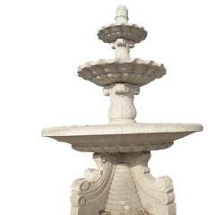 长期供应石雕喷泉欧式大理石黄锈石喷泉园林景观小区景观广场摆件