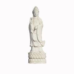 厂家直销汉白玉大理石花岗岩石雕佛像单面三面四面观音菩萨雕塑