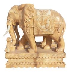 厂家直销生产加工定制汉白玉花岗岩石雕大象 招财吉祥石材雕刻象