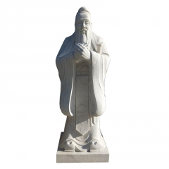 石雕厂家直销人物孔子雕像 公园广场雕塑 大型石雕可定制尺寸