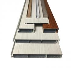 全铝家具衣柜型材 仿实木全铝橱柜型材直销 铝合金防潮储物柜型材