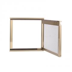 晶钢门铝材厂家 灶台门边框材料 外框晶钢门材料 透气孔铝材