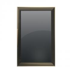 全铝衣柜极简玻璃门型材 轻奢衣柜门型材 佛山推拉移门型材厂家