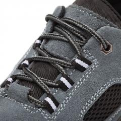 新款夏季透气安全真皮劳保鞋 耐磨钢包头防砸防刺工地防护鞋