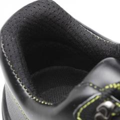 新款低帮牛皮劳保鞋 男女四季达标钢头钢板防砸防刺防护安全鞋