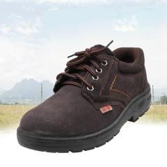大量供应反绒牛皮防砸钢包头男女耐磨劳保鞋低帮工作防护工地鞋