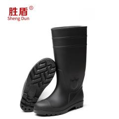 批发PVC劳保防砸男钢头雨靴防滑厨师鞋防水鞋高筒雨靴工矿靴
