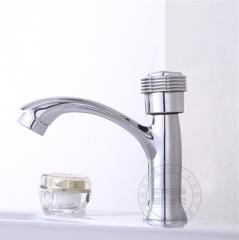 洗手盆锌合金水龙头单冷面盆台盆龙头卫生间冷水龙头单联扳手轮