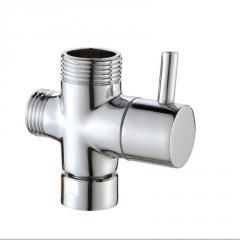 淘宝多功能全铜三头四分快开分水器淋浴阀 花洒龙头转换阀