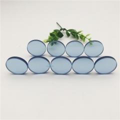 5mm厚蓝色玻璃 圆形蓝色玻璃 小规格蓝色玻璃 蓝色钢化玻璃厂家