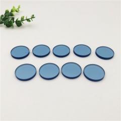 5mm浅蓝色玻璃 蓝色视窗钢化玻璃 深蓝色玻璃 宝石蓝玻璃