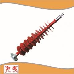 防风偏复合绝缘子 FSP-220/0.8-AQ齐亮品质220kv抗风硅橡胶绝缘子
