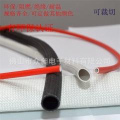 厂家直销阻燃防火套管硅管玻璃纤维套管高温管红色耐高温套管