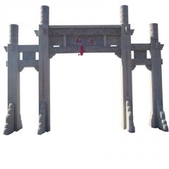 厂家直销 来图加工定做各种石雕牌楼 花岗岩牌坊 村庄寺庙石牌坊