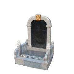 曲阳定做石雕墓碑石碑大理石刻字中国黑墓地刻字石碑家族墓碑摆件