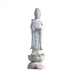 曲阳厂家批发人物雕塑汉白玉观音雕塑保平安供奉佛像摆件可定制