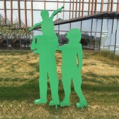 厂家定制户外商人街道人物雕塑人像摆件城市树脂工艺品景观雕塑