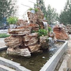厂家批发石雕假山大型喷水雕塑公园石雕喷泉流水摆件园景河滩