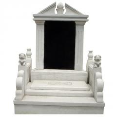 厂家定做农村中国黑石雕墓碑石碑墓地刻字大型家族公墓专用