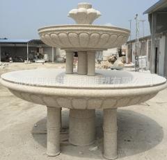 曲阳石雕喷泉汉白玉室外喷泉 大型石雕喷泉花盆 水钵小区别墅门口