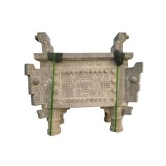 厂家直销石雕香炉鼎 大理石供桌鼎寺庙烧香专用支持定制