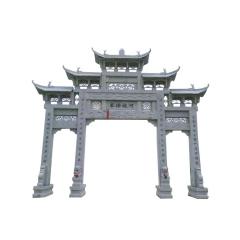 供应石雕牌楼 青石大理石村口石牌坊公园寺庙大型三门汉白玉牌楼