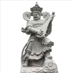 花岗岩四大天王 石雕四大天王 白麻四天王雕塑 神话人物雕刻