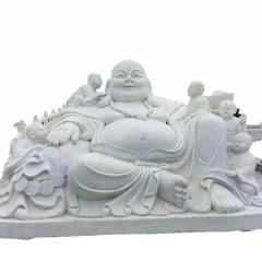 寺庙供奉观音佛像 寺院弥勒佛花岗岩 广场大型石雕弥勒佛佛像