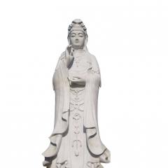 厂家定制花岗岩石雕人物佛像滴水观音寺庙欢迎定制热销中
