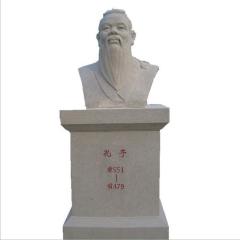 儒家孔子人物石雕定做 校园建设名人站立像 汉白玉孔孟人物像