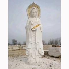 厂家定做 石雕汉白玉观音佛像 大型寺庙雕塑 质优价廉 欢迎咨询