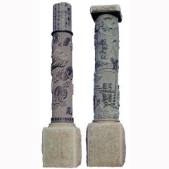 定制盘龙石柱 多规格来图加工青石汉白玉广场标志石雕龙柱