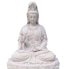 厂家定制 石雕汉白玉三面观音寺庙摆件 青石地藏王佛像