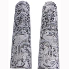 定制石雕龙柱来图制作石雕广场文化柱系列汉白玉雕刻石柱