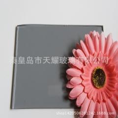 灰色玻璃原片4mm 2440*1650mm 浅灰色玻璃原片 彩色浮法玻璃
