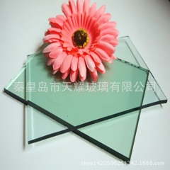 工厂批发4mm 5mm 6mm浅绿玻 F绿玻璃 绿色浮法玻璃原片