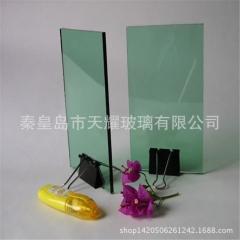 批发浅绿玻 F绿玻 10mm 3300*2140mm大板 可钢化