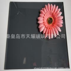 深灰色玻璃 黑色玻璃 10mm灰玻 秦皇岛工厂批发定制