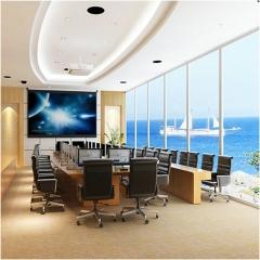 办公室电控透明调光玻璃 雾化玻璃 电子自贴调光膜防火变色玻璃