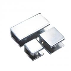 玻璃层板托支架托架亮光浴室木板鱼嘴夹6-12MM厚锌合金固定玻璃夹