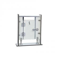 整套不锈钢卫生间隔断配件 叠门不分左右 公共洗手间隔间五金配件