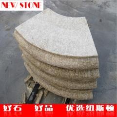 直销黄锈石光板 浅黄色花岗岩光板定制 北方黄锈石石材供应商