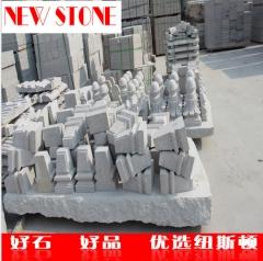 直销黄锈石仿型花瓶柱 异型装饰花岗岩花瓶柱定制 北方黄锈石厂家