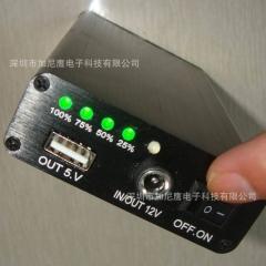 1万5锂电池15000容量野外可充电12V9V5V手持充电宝铝合金电量显示
